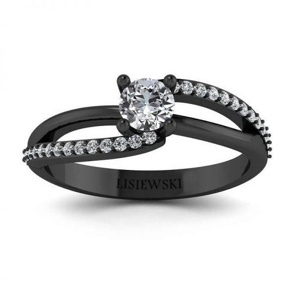 pierścionek rodowany na czarno - tak zwane czarne złoto