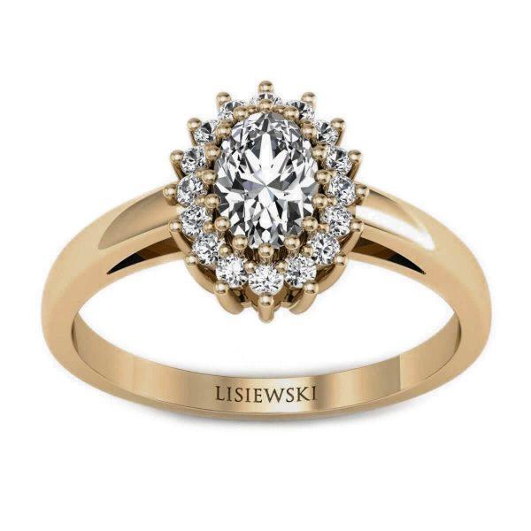 złocenie o kolorze brązowym czekoladowym - pierścionek