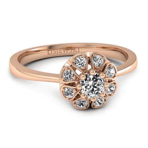 złocenie o kolorze czerwonym - pierścionek