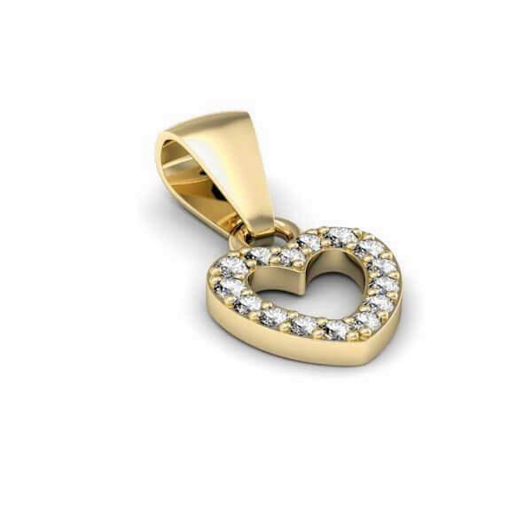 złocenie o kolorze czystego złota - wisiorek