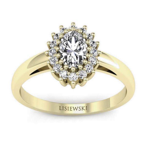 złocenie o kolorze zielonkawo-zółtym - pierścionek