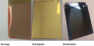 Defekty powierzchni galwanicznej na płaszczyznach